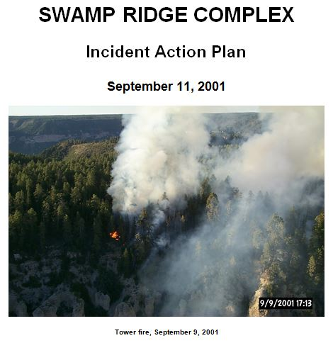 Swamp Ridge Complex, IAP Cover 9-11-2001