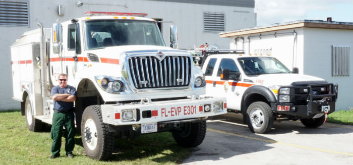 Everglades fire engines Chris Corrigan
