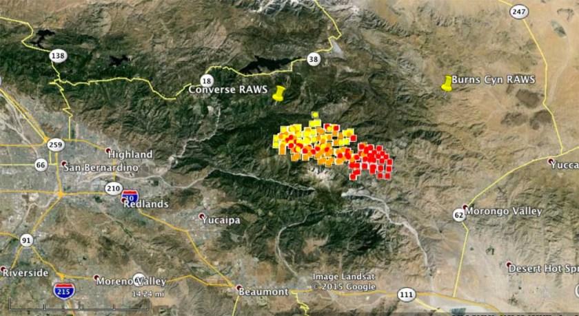 map lake fire