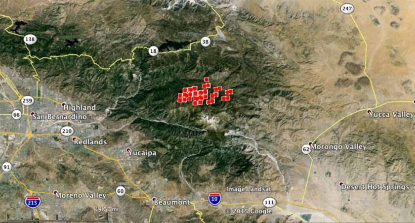 Lake fire map san bernardino california
