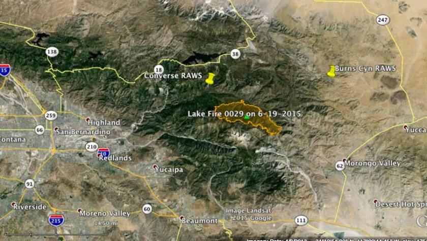 Map of Lake Fire