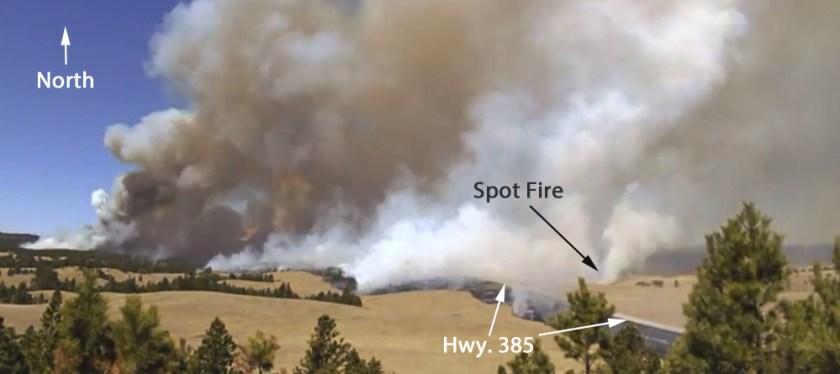 Cold Brook escaped prescribed fire spot fire