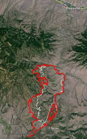 mapCorner Creek Fire