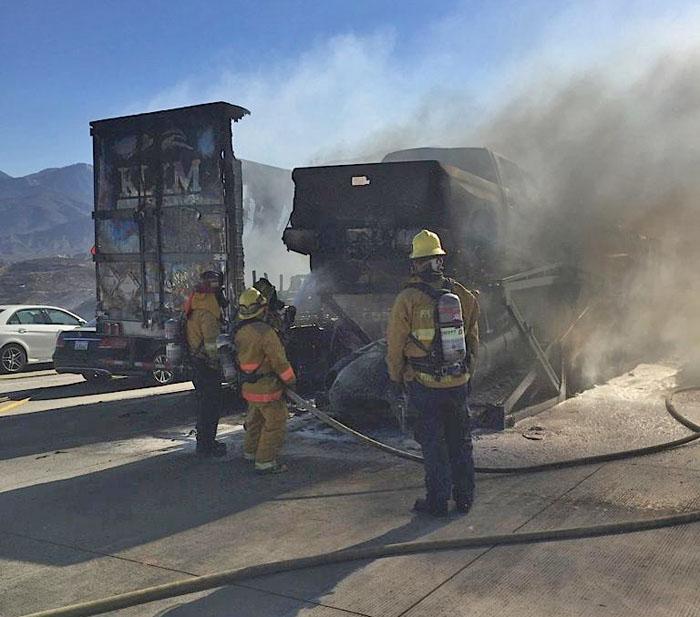 North Fire trucks interstate 15