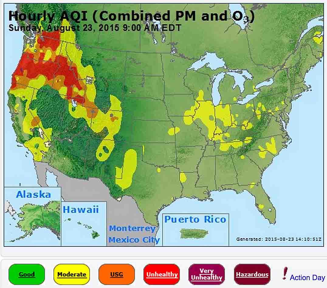 Smoke map July 1 2015 Wildfire Today