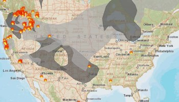 Wildfire Smoke Map August Wildfire Today - Us wildfire map