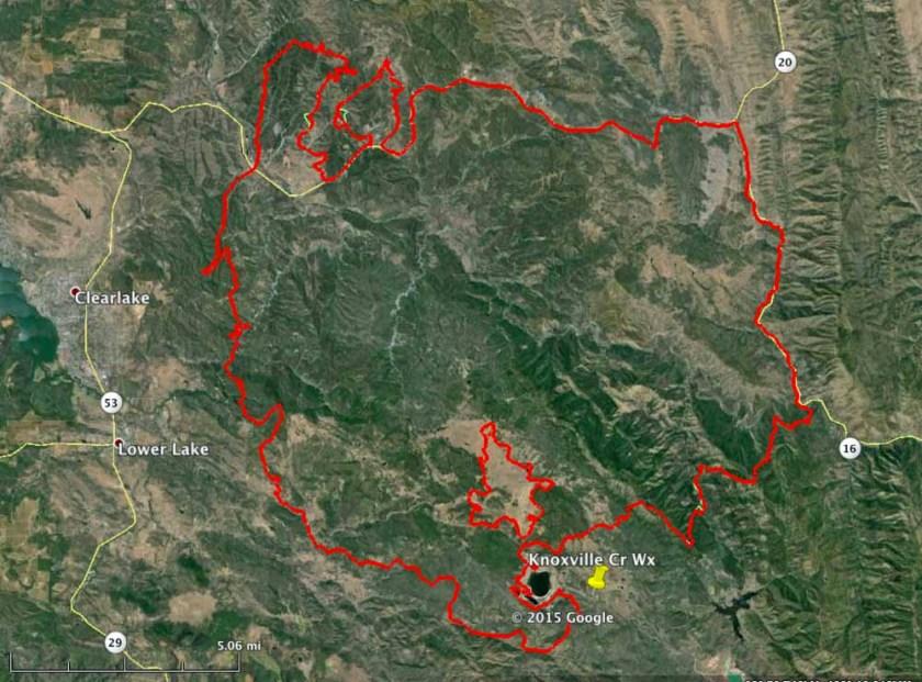 Map Rocky Fire