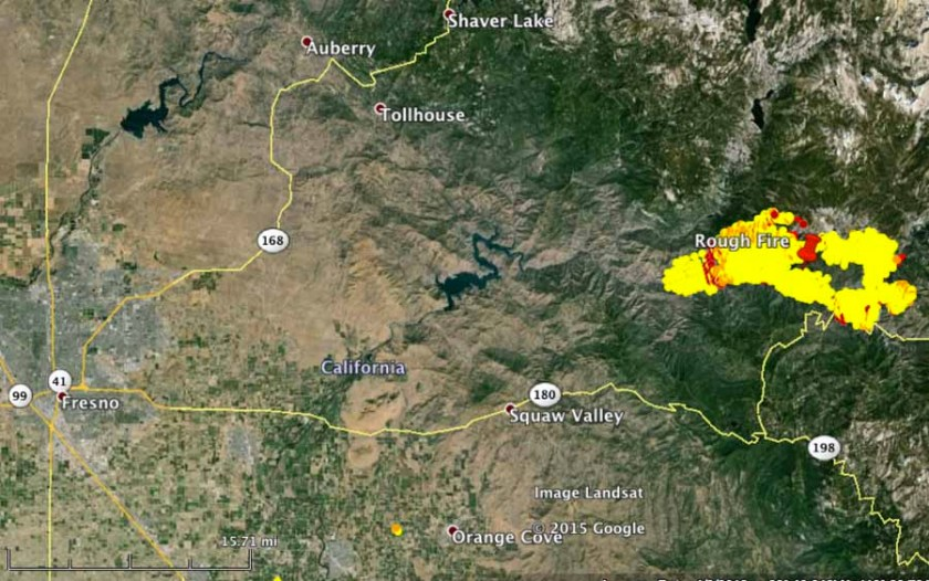 Rough Fire vicinity map