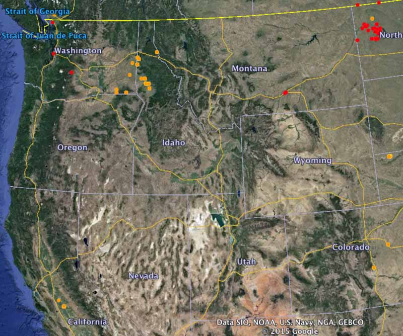 Fires western US