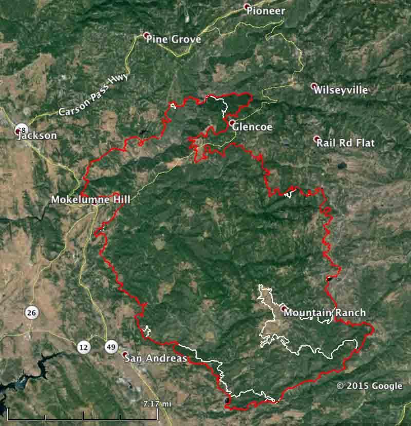 Map Butte Fire 9-15-2015