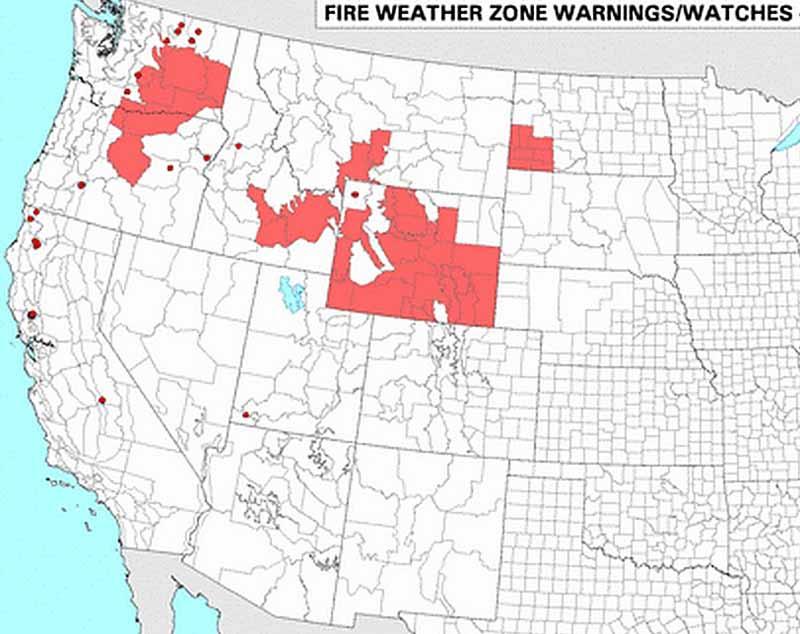 Red Flag Warnings, 9-13-2105