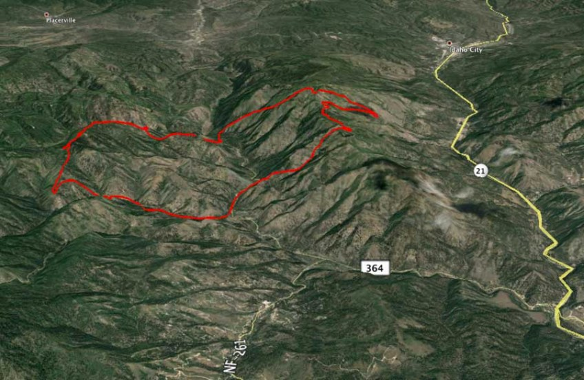 3D Map Walker Fire 8 pm 10 13 2015   Wildfire Today