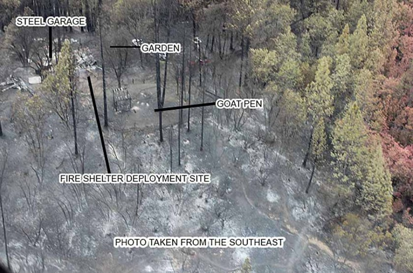 Valley fire entrapment site