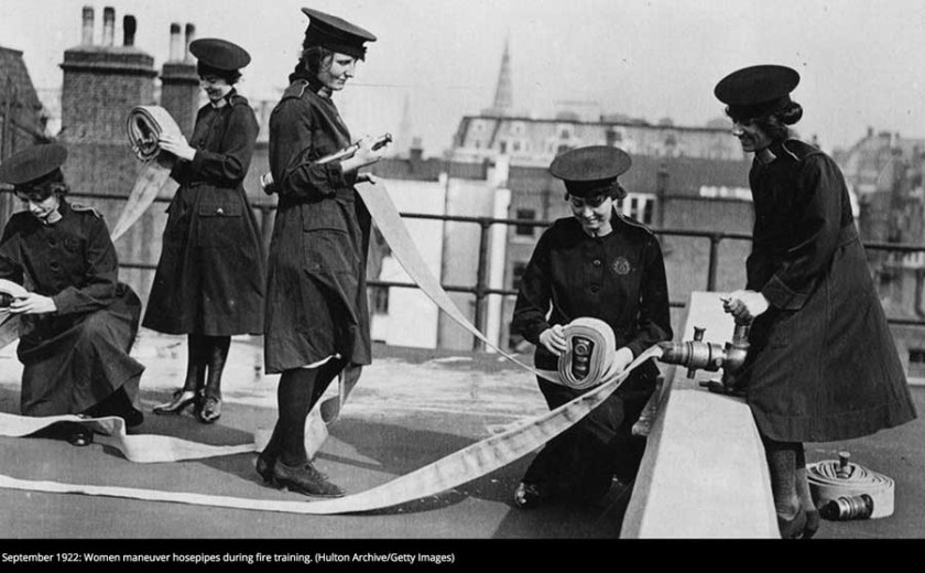 Female firefighters 1922