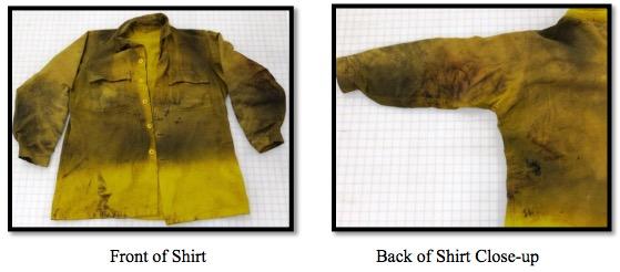 damaged Nomex shirt