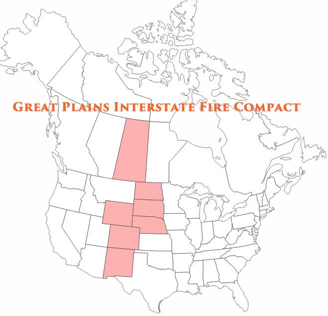Great Plains Interstate Fire Compact map