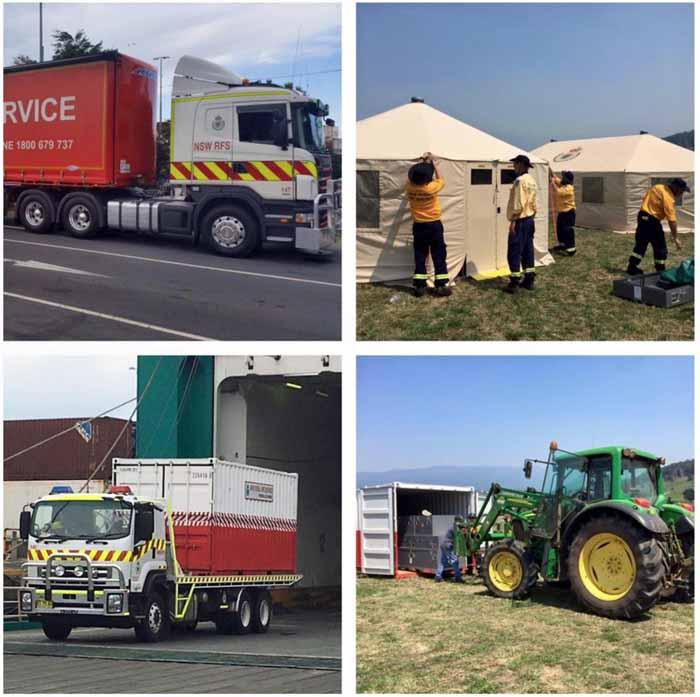NSW RFS firefighters Tasmania