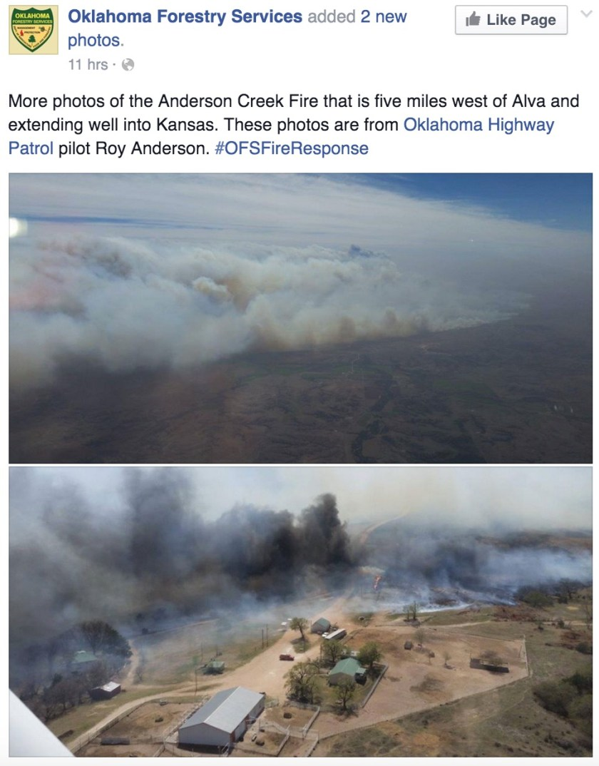 Anderson Creek Fire 3-24-2016