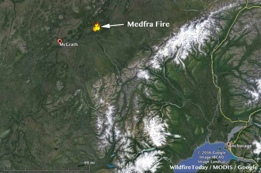 Medfra Fire map