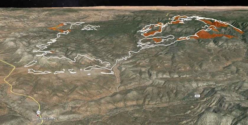 3-D Map Cedar Fire