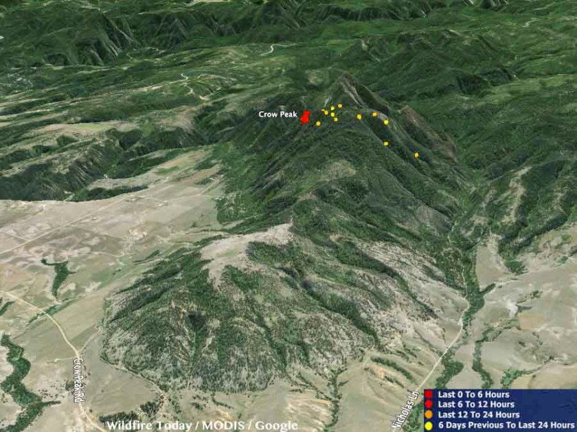 Map 3-D Crow Peak Fire