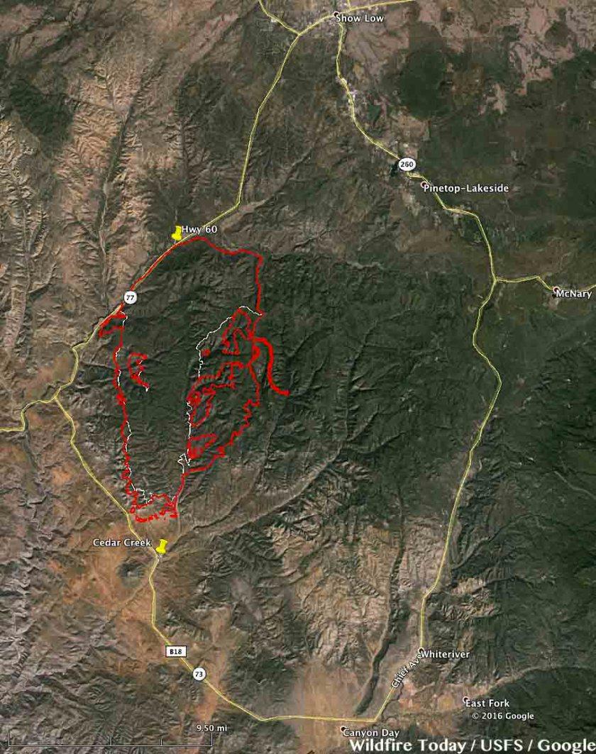 map Cedar Fire