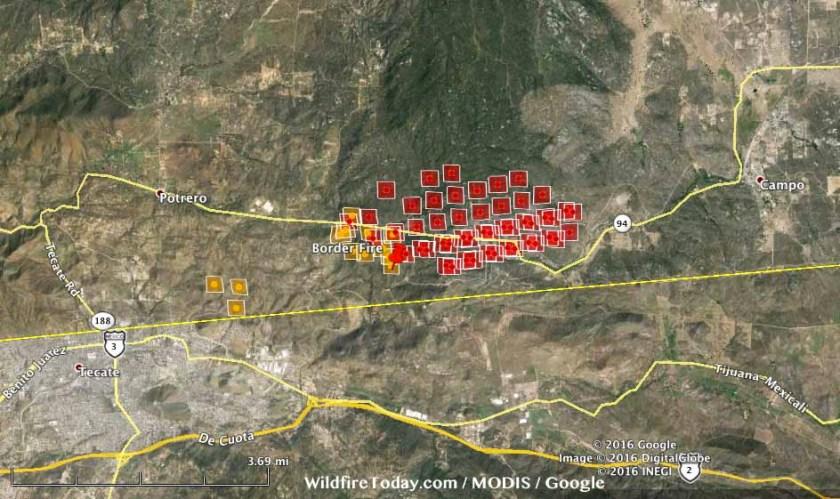 Map Border fire