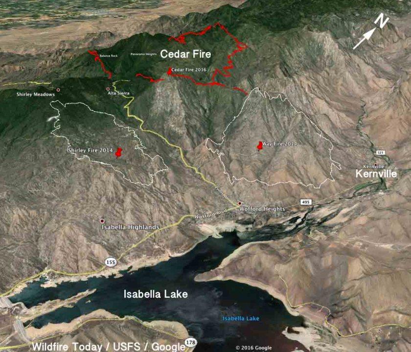 3-D Map of the Cedar Fire
