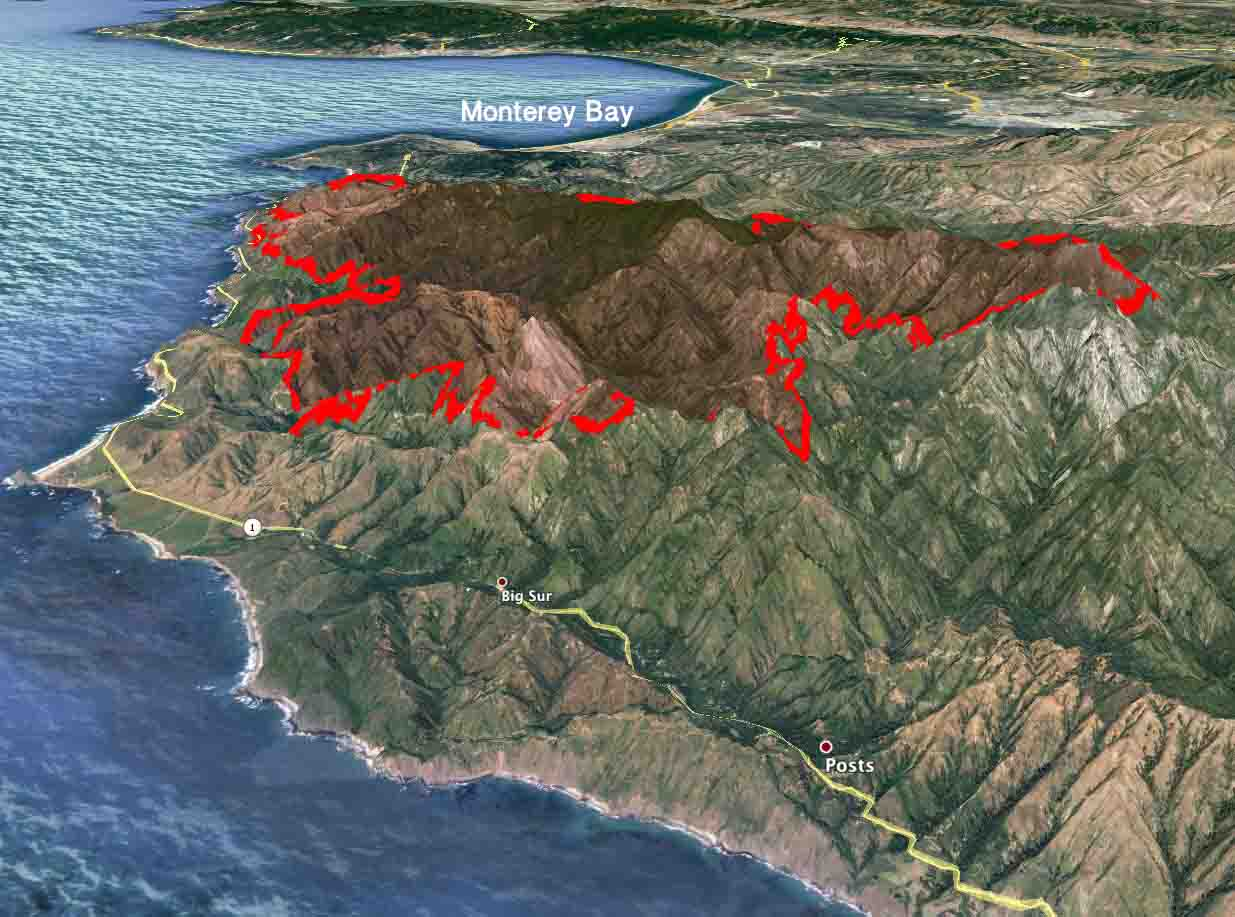 Soberanes Fire Continues To March Through The Mountains Above Big