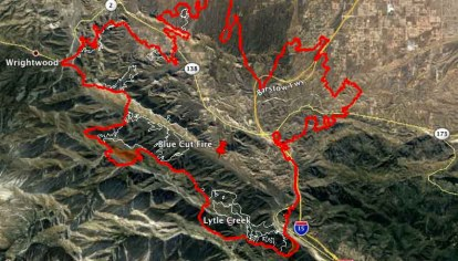 Loma Fire Causes Evacuations South Of San Jose Calif Wildfire Today