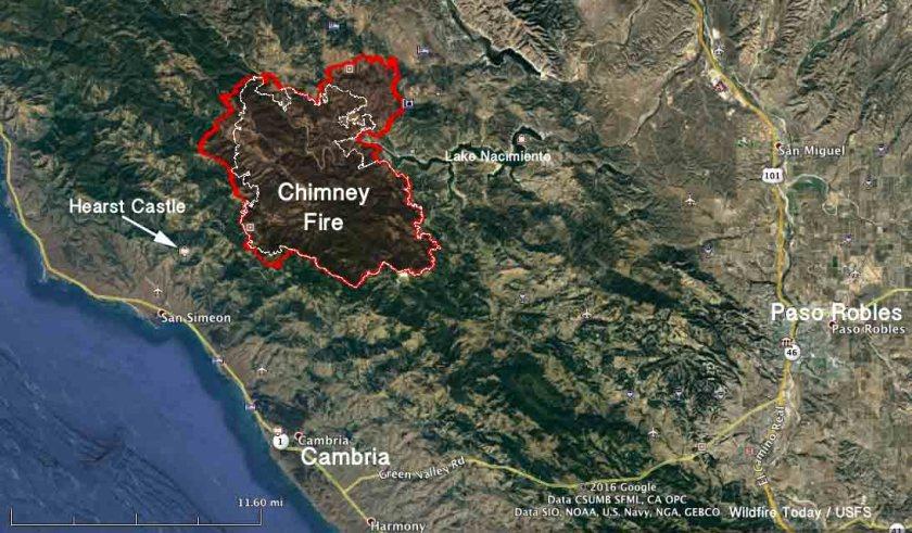 Map Chimney Fire