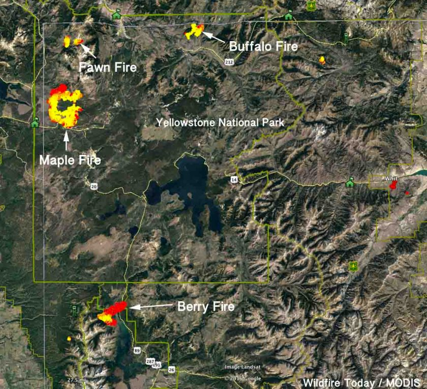 map fires yellowstone grand teton national parks