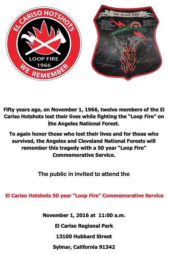 El Cariso 50th anniversary commemoration