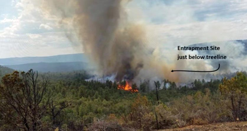 Report released on entrapment of six firefighters on the Cedar Fire in Arizona