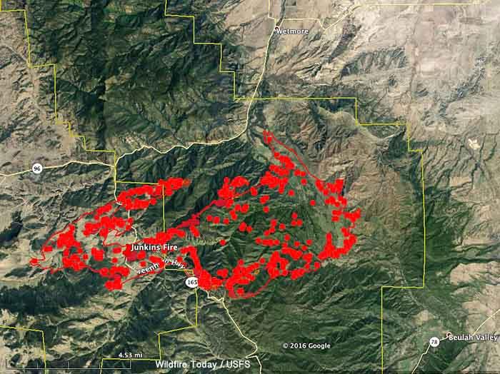 map junkins fire