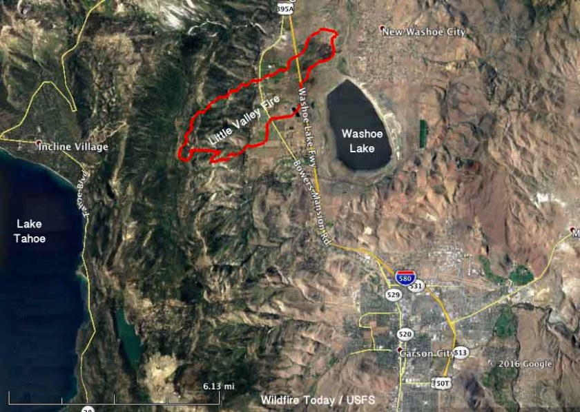 Map Little Valley Fire