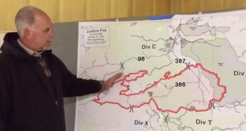 Junkins fire map