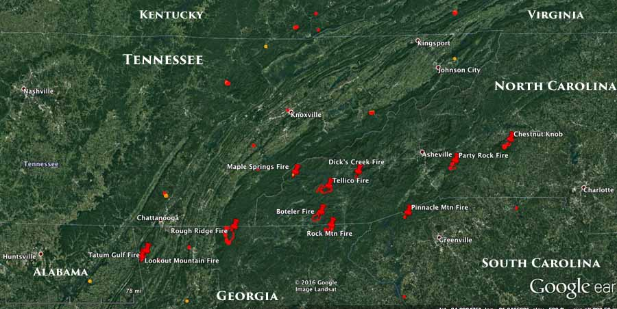 Information And Maps Of Five Wildfires In Georgia And