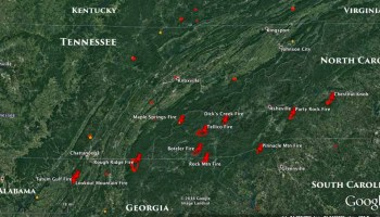 Update On Six Wildfires In The South November Wildfire - Wildfires map in southeastern us