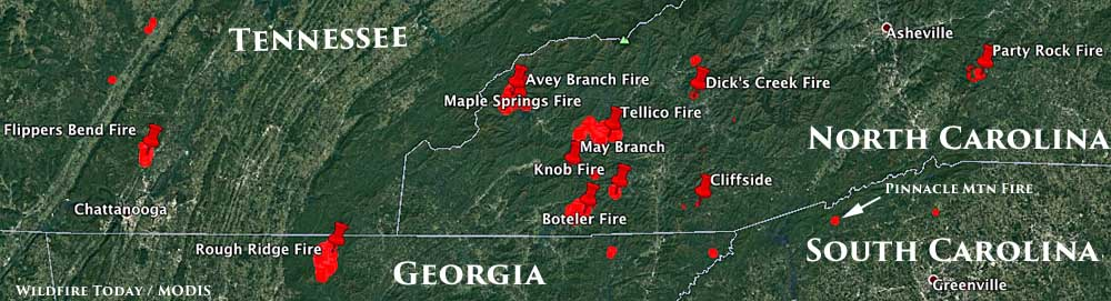 Map Of Georgia Fire.Smoke From Wildfires Impacts Georgia Wildfire Today