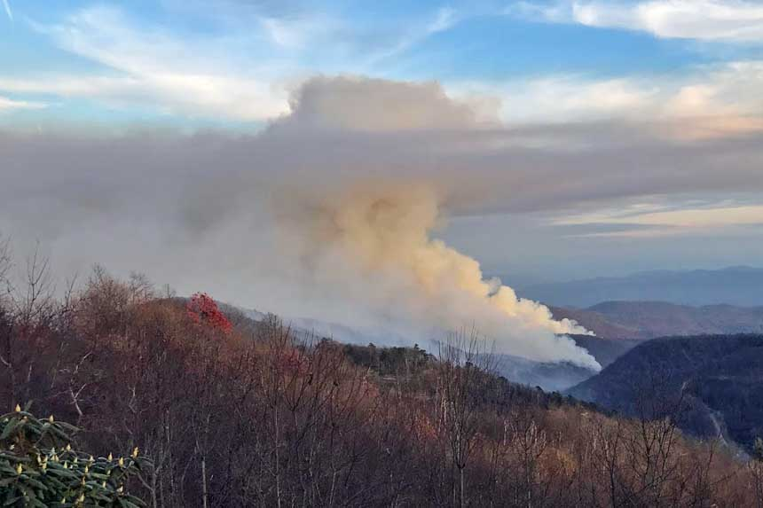 Horton Fire causes evacuations southeast of Boone, NC