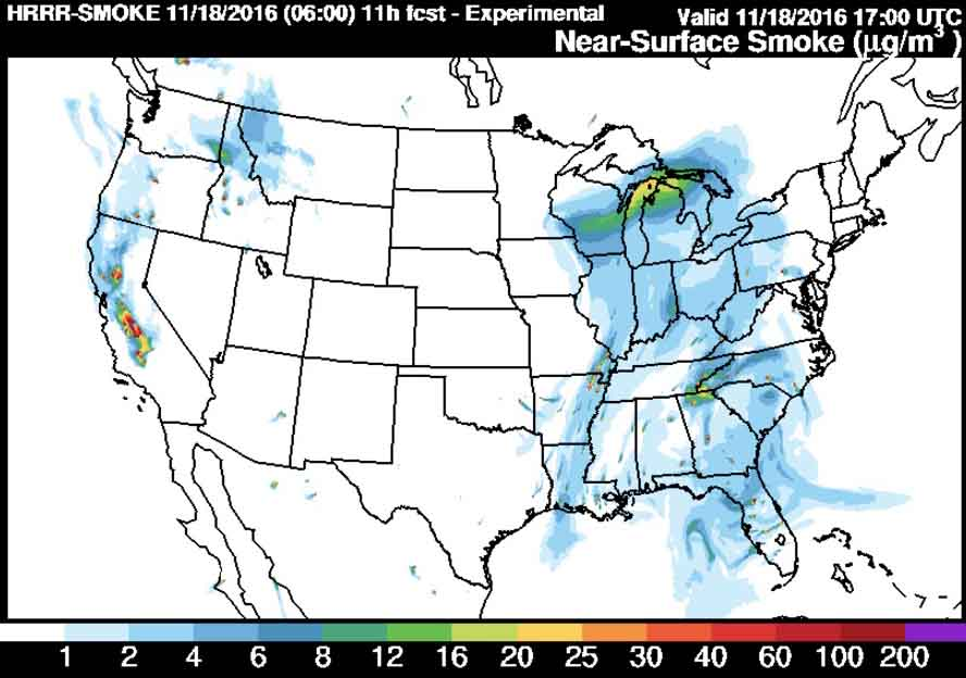 North Carolina to receive the worst of the smoke on Friday