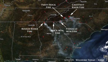 Wildfire Smoke Decreases In Southeastern US On Sunday Increases - Wildfires map in southeastern us