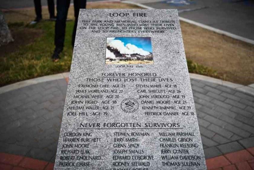 Loop Fire memorial