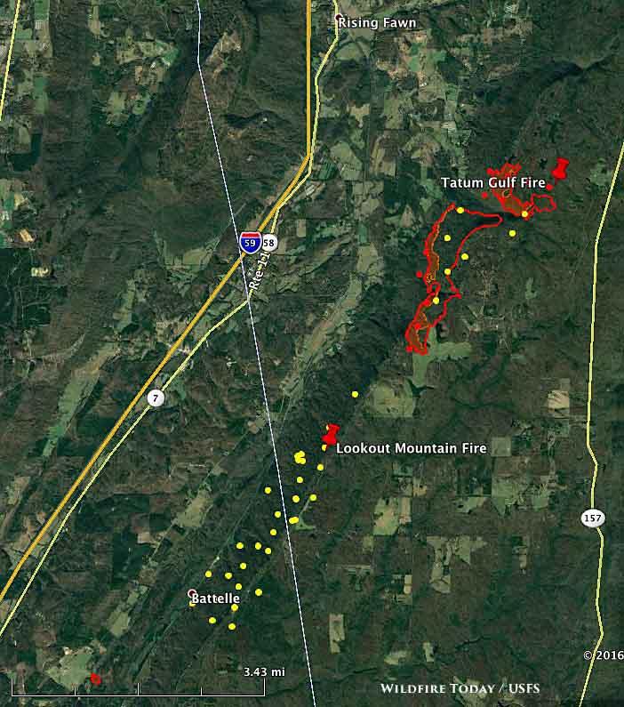 map Tatum Gulf fire