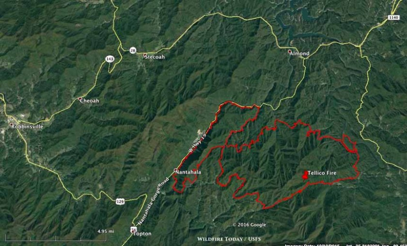 map Tellico Fire