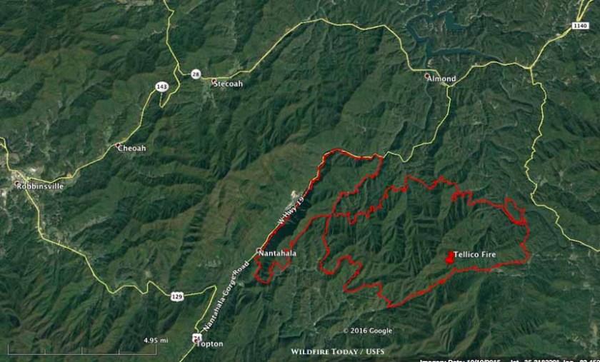 map Tellico Fire