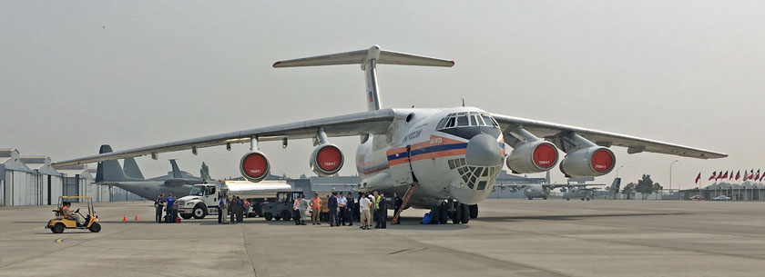 IL-76 air tanker chile Santiago