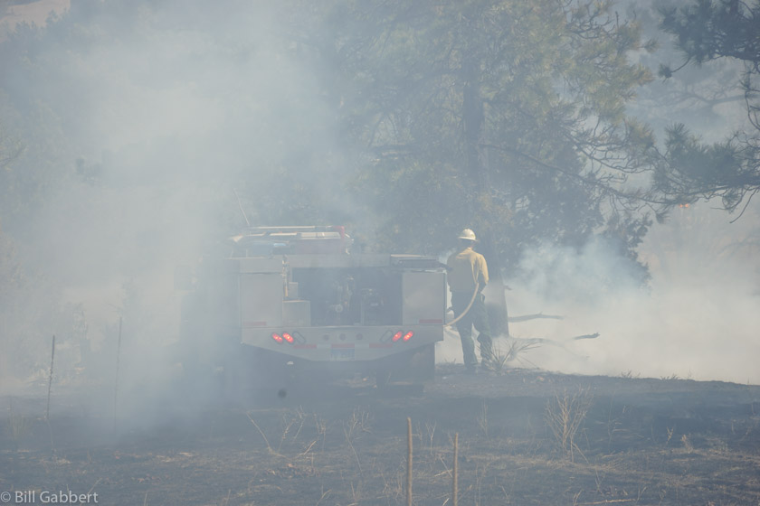 wildfire firefighter smoke