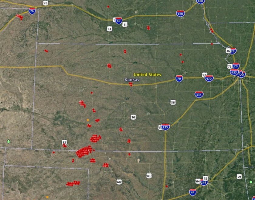 map wildfires kansas